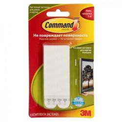 Застежки для рамок Command большие, белые (до 2,5 кг)
