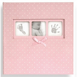 Альбом Innova Baby Polka Q4103612M розовый с карманами 10x15 (200 фото)