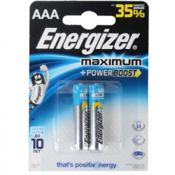 Батарейки Energizer Maximum AAA-LR03 FSB2 1.5 V - 2 штуки