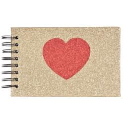 Альбом Innova Mini Glitter Hearts Q1409976 с карманами 10x15 (20 фото)